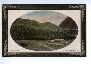 147265 NEW ZEALAND Mount Cook Vintage EMBOSSED postcard