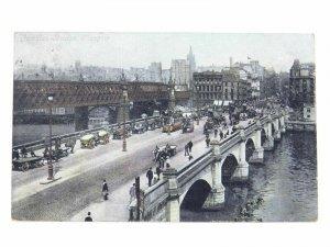 Antique colour printed postcard Jamaica Bridge Glasgow Valentines Series