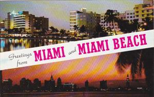 Florida Greetings From Miami and Miami Beach