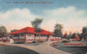 Pavilion, John Ball Park, Grand Rapids, Michigan, Early Postcard, Used in 1913