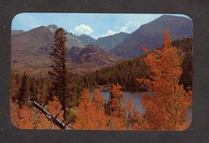 CO Bear Lake Rocky Mountain National Park Colorado Postcard Long's Peak