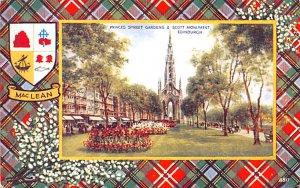 Scotland, UK Old Vintage Antique Post Card Princes Street Gardens & Scott Mon...