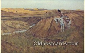 Prairie Eyes Indian Postcard, Post Card Beecher Island Fight Unused