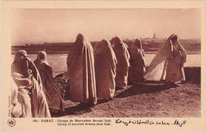 Morocco Rabat Group of moorish women near Sale 1920s-30s