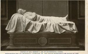 VA - Lexington, Washington & Lee University, Statue of Robert E. Lee, Lee Mem...