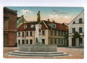 233179 Lithuania Klaipeda MEMEL Simon Dach Fountain Old RPPC