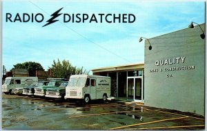 Memphis TN Advertising Postcard QUALITY SALES & CONSTRUCTION Radio Dispatched