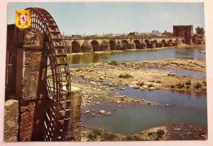 Spain, Cordoba, Roman bridge and Albolafia mill, Colour Postcard