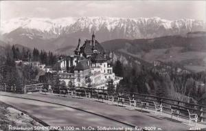 Austria Semmering Suedbahnhotel gegen Rax Real Photo