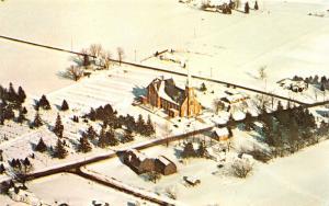 Frankenmuth Michigan~St Lorenz Lutheran Church Bird's Eye View~Info Bk~1976 Pc