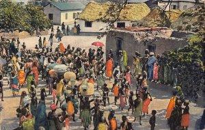 Ghana Gold Coast Funeral Custom death of a Chief Accra 1927 Postcard