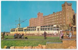 Lancashire; Blackpool, Norbreck Hydro PPC Unposted c 1960s, Shows Twin Car