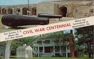 Charleston SC, Civil War Centenntial, 1961, Fort Sumter, Appomattox Court House