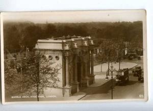 233010 UK LONDON Hyde Park Marble arch Vintage Valentines PC