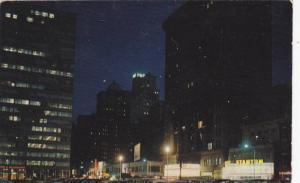 Market Street Looking East At Night, Philadelphia, Pennsylvania, Pu-1958