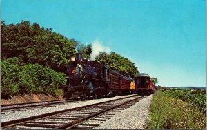 Postcard PA Pennsylvania Strasburg Railroad Train Steam Locomotive Unposted