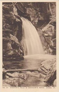 Vermont Poultney The Binghams Falls In Smugglers Notch Albertype