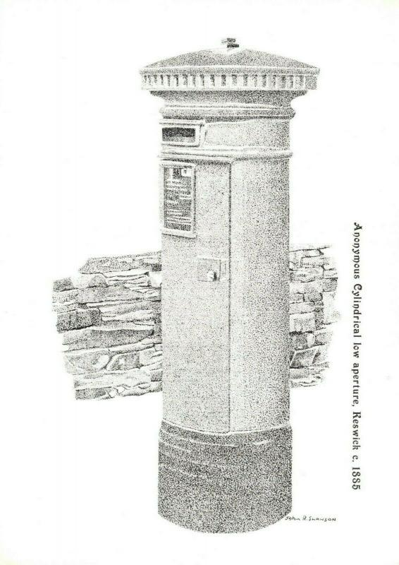 Postcard, Anonymous Cylindrical Low Aperture Post Box, Keswick c 1885 78R