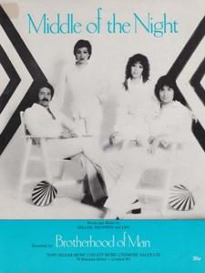 Middle Of The Night Brotherhood Of Man 1970s Sheet Music