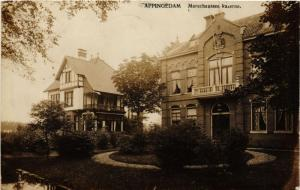 CPA APPINGEDAM real photo Marechaussee kazerne NETHERLANDS (706321)