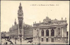 france, LILLE, Bourse, Theatre, Stock Exchange (1940s)