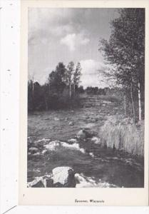 Wisconsin Spooner River Scene Real Photo