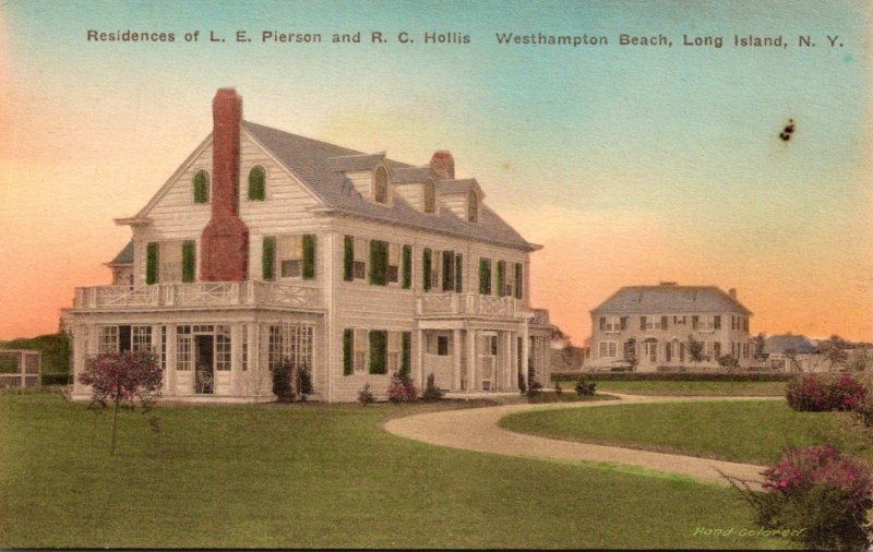 New York Long Island Westhampton Beach Residences Of L E Pierson and R C Hollis