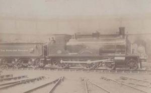 Highland Railway Loch Langhart Old Antique Rail Train Real Photo Postcard