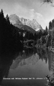 Stausee mit Wilden Kaiser bei St Johann in Tirol Lake Forest Postcard