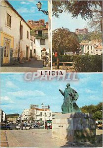 Postcard Modern Leiria Portugal Several City Aspects