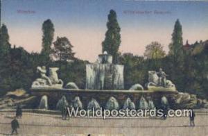Munchen Germany, Deutschland Postcard Wttelsbacher Brunnen  Wttelsbacher Brunnen