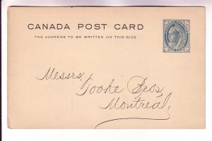 Canadian Postal Stationery Victoria Maple Leaf 1Cent 1899 Returning Underwear...