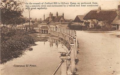 Codford Hill Oldbury Camp St. Mary Wiltshire, England UK c1910s Vintage Postcard