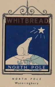 North Pole Wateringbury Maidstone Kent Metal Pub Sign Advertising Ephemera