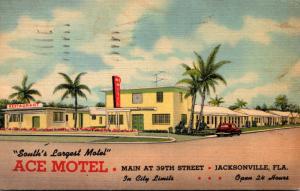 Florida Jacksonville Ace Motel 1951 Curteich