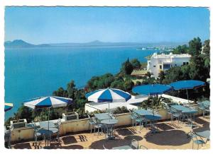 Tunisia Dar Zarrouk Restaurant Sidi Bou Said Postcard 4X6