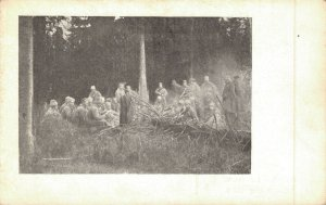 Slovakia Oddych v Lese Military Soldiers in the Forrest 1918 04.80