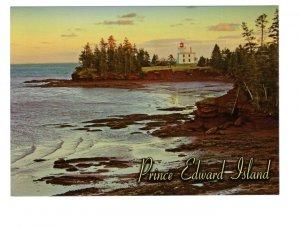 Blockhouse Point Lighthouse, Prince Edward Island, Large 5 X 7 inch Postcard