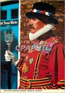 Modern Postcard The Chief Yeoman Warder Tower of London Folklore
