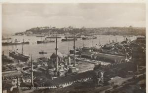 RP: ISTANBUL, Turkey, 1920-1940s; Panoramic Vue du Port