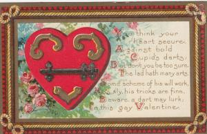 Valentine Greetings, Heart Secure, 1900-1910s