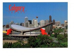Saddledome, Skyline, Calgary, Alberta, Large 5 X 7 inch Postcard