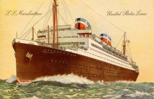 United States Line - SS Manhattan