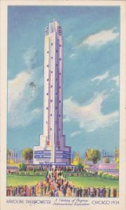 Havoline Thermometer World's Tallest Thermometer Chicago World's Fair 1933