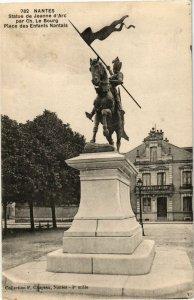 CPA NANTES - Statue de Jeanne d'Arc par Ch. le Bourg Place des Enfants (223155)