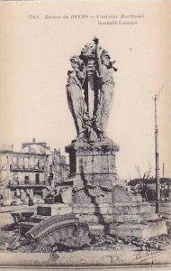 France Reims Ruines Fontaine Bartholdi