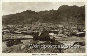General View Aden Republic of Yemen Writing on back