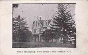 New York Port Byron Mack Residence Main Street 1909