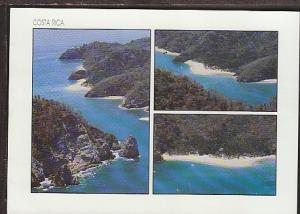 Bird's Eye View Tortuga Island Costa Rica Postcard BIN