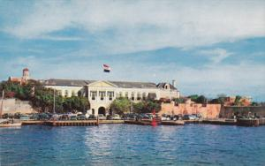 CURACAO, Netherland Antilles, 1940-1960's; Governor's Palace, Classic Cars